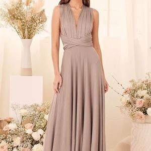 Lulus Tricks of the Trade Maxi Bridesmaids Dress
